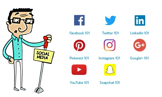 Learn how to get started on social media with these 101 level courses