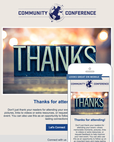 Thank You Email Templates | Constant Contact