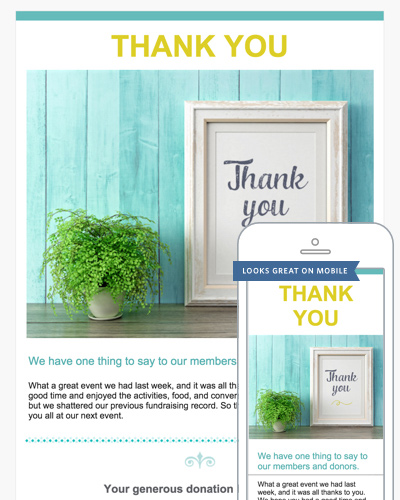 Thank You Email Templates  Constant Contact