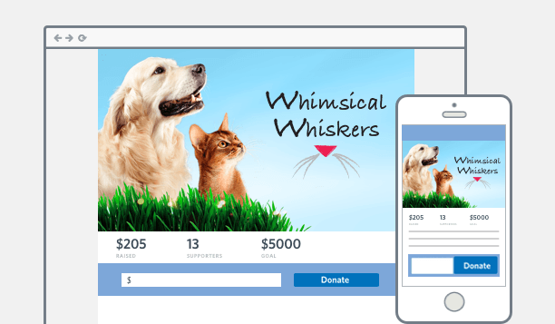 Create mobile friendly donation pages with our online fundraising tools