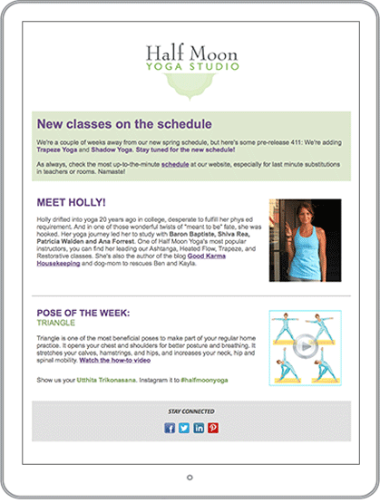 Gym & Health Club Email Newsletter Example