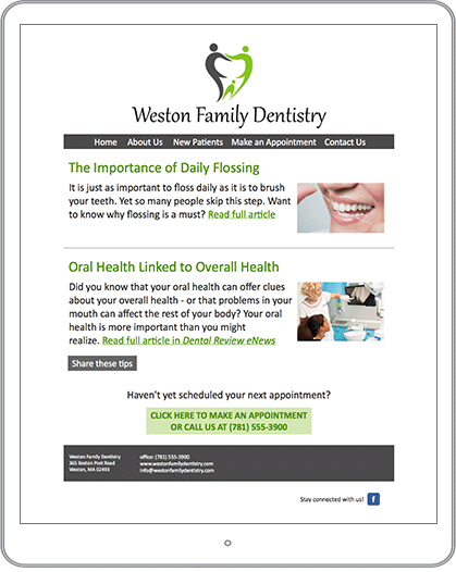 Healthcare Marketing Email Newsletter Example