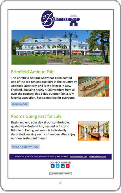 Hotel Marketing Email Newsletter Example