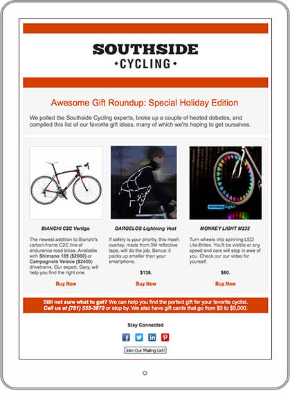 eCommerce & Retail Email Marketing Newsletter Example