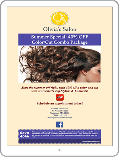 Salon and Spa Marketing Email Newsletter Example