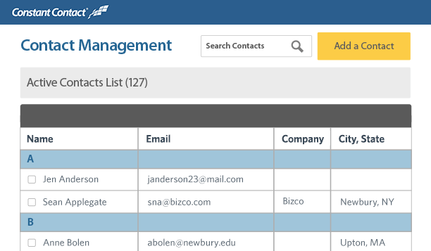Easily upload your current email list to your Constant Contact account