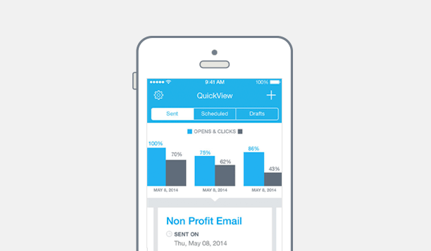 The Constant Contact app lets you check email reports wherever, wheneverThe Constant Contact app lets you check email reports wherever, whenever